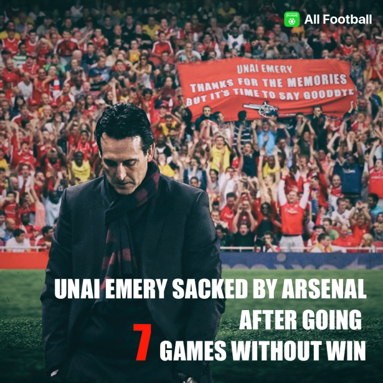 OFFICIAL: Unai Emery SACKED by Arsenal after going 7 games without win